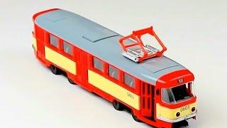 Обзор - распаковка игрушек Муз. машина Автопром трамвай  в коробке Арт: 9708ABCD