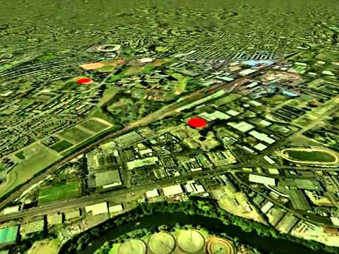 3D Glasgow subsurface model: view beneath the Clyde Gateway