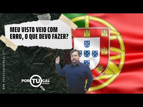 Meu Visto Veio Com Erro, O Que Devo Fazer?    Portugal Na Real