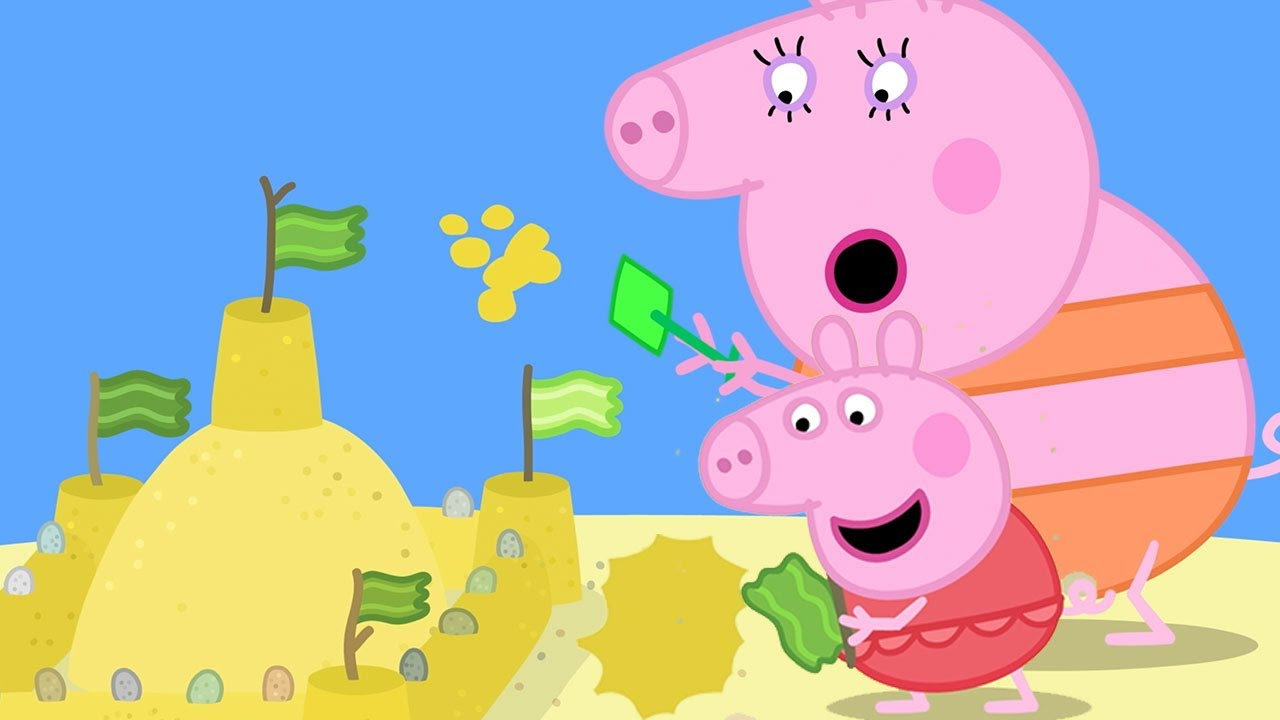 Download Peppa Pig Official Channel | Peppa Pig's Giant Sandcastle