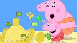Peppa Pig Official Channel | Peppa Pig's Giant Sandcastle