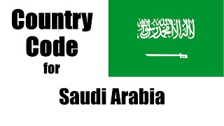 Saudi Arabia Country Code Mobile Phone
