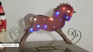 18.25 in. Red Rocking Horse with Battery Operated Color Changing Lights - Product Review Video