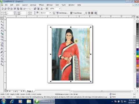 Bitmap Menu Part 1 in Corel Draw  how to change image format