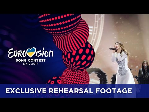 Lindita - World (Albania) EXCLUSIVE Rehearsal footage
