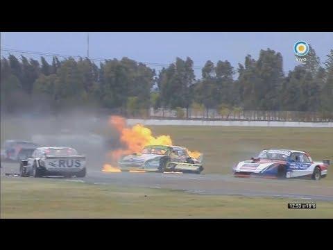 ACTC (TCPM) 2018. Final Autódromo Roberto José Mouras(2). Start Big Crash