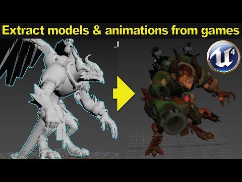 Tutorial: How to extract 3D models and animations from games made in Unreal  Engine (ENGLISH)