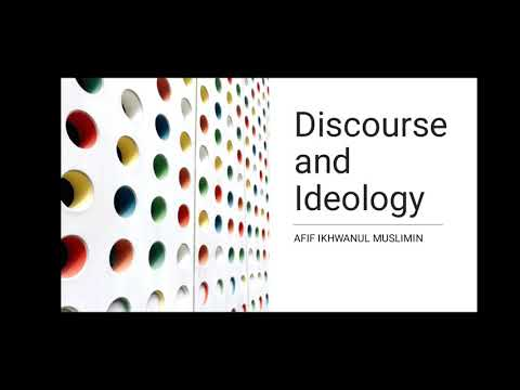 Discourse and Ideology