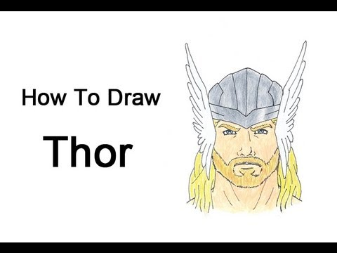 How to draw thor