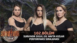 Survivor 2018 | 20. Hafta Kızlar Performans Sıralaması | 102. Bölüm | Survivor 2018