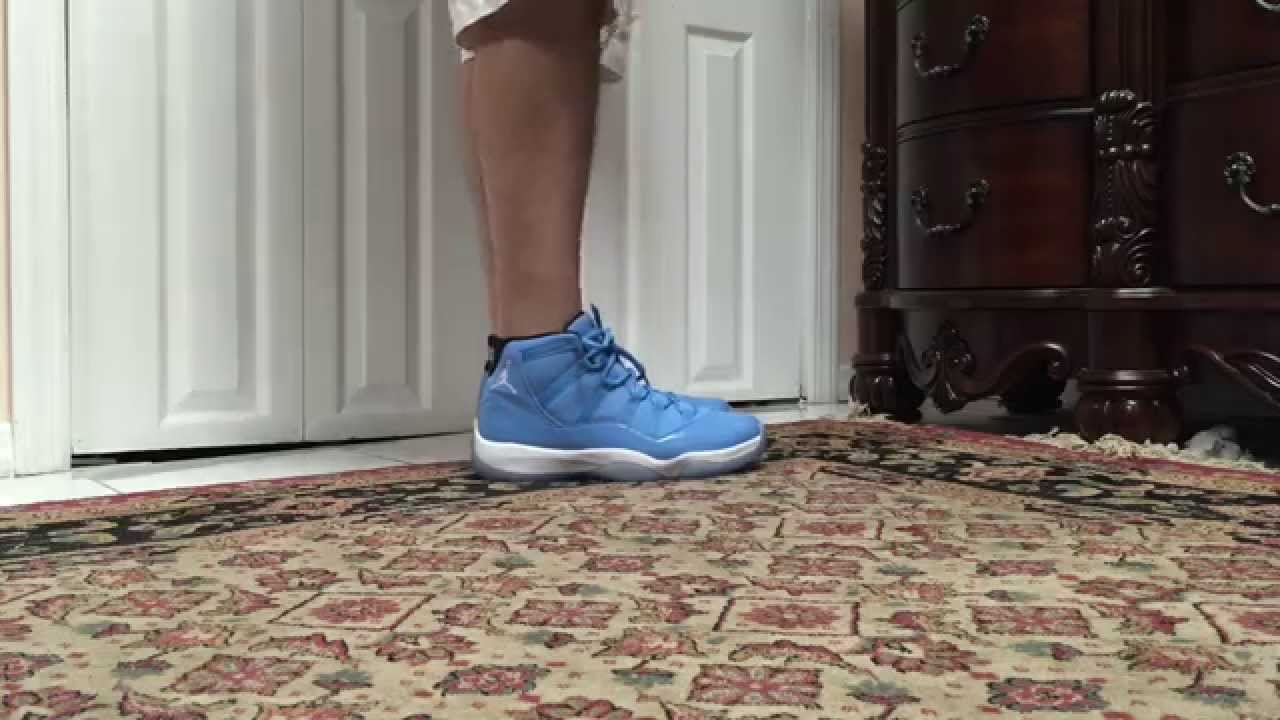 73a5ca5f6ac Air Jordan 11 XI Ultimate Gift Of Flight Pantone On Foot - YouTube