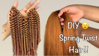 DIY Spring/Passion Twist Hair Out of Braiding Hair