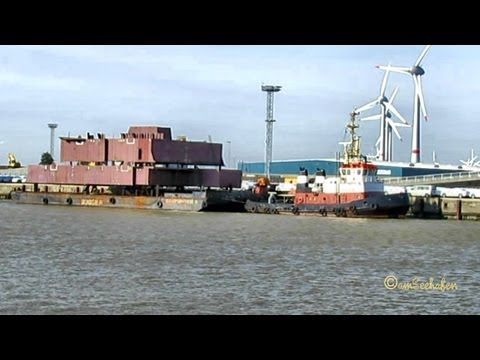 Tug Schlepper ARION DEGW IMO 7726902 Barge Construction Pieces Meyer Werft Papenburg Emden