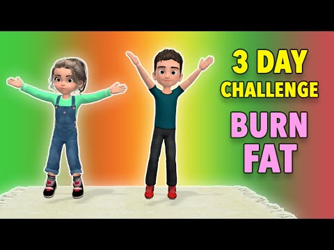 3 Day Challenge: Burn Fat and Calories – Kids Exercise