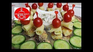 5 cay saati citir top börek - 5 dakikada peynirli susamli börek - käsebällchen - Gülsümün sarayi