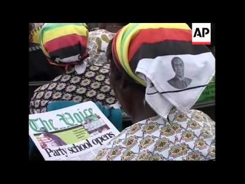 Mugabe opening speech at the annual Zanu PF party congress