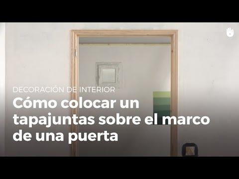 Cómo colocar un tapajuntas sobre el marco de una puerta. | Bricolaje DIY