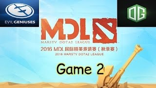 eg vs og game 2 mdl 2016 autumn highlights playoffs