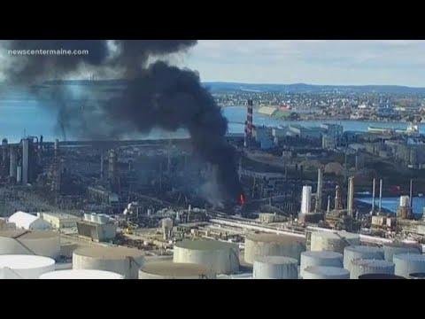 Irving Oil Refinery Explodes In Saint John, New Brunswick, Canada