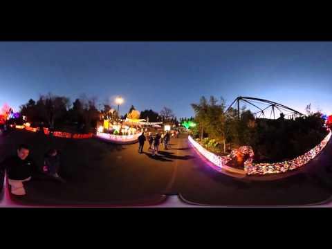360 VR of 2015 Oregon Zoo Lights in HD (Portland Zoo)
