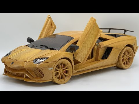 Wood Carving – Lamborghini Aventado S 2021 – Woodworking Art