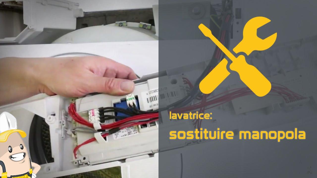 Schema Elettrico Scheda Whirlpool L1799 : Come sostituire la manopola della lavatrice youtube