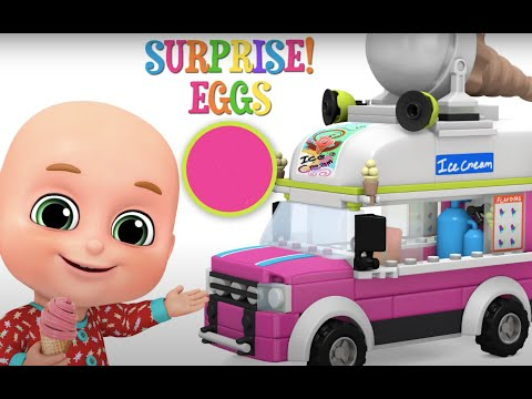 Surprise Egg - Ice Cream Van - Red Racing Car Toys - Kids Toys Unboxing from Jugnu Kids