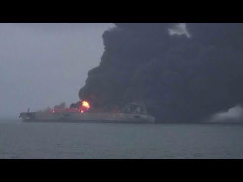 Rescuers struggle to bring tanker fire under control in East China Sea
