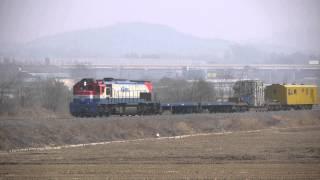 [HD] 경북선 변압기 수송 열차 / 慶北線の変圧器 輸…