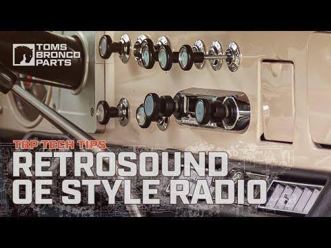 0996B - Custom OE Style 66-77 Ford Bronco Radio By TBP