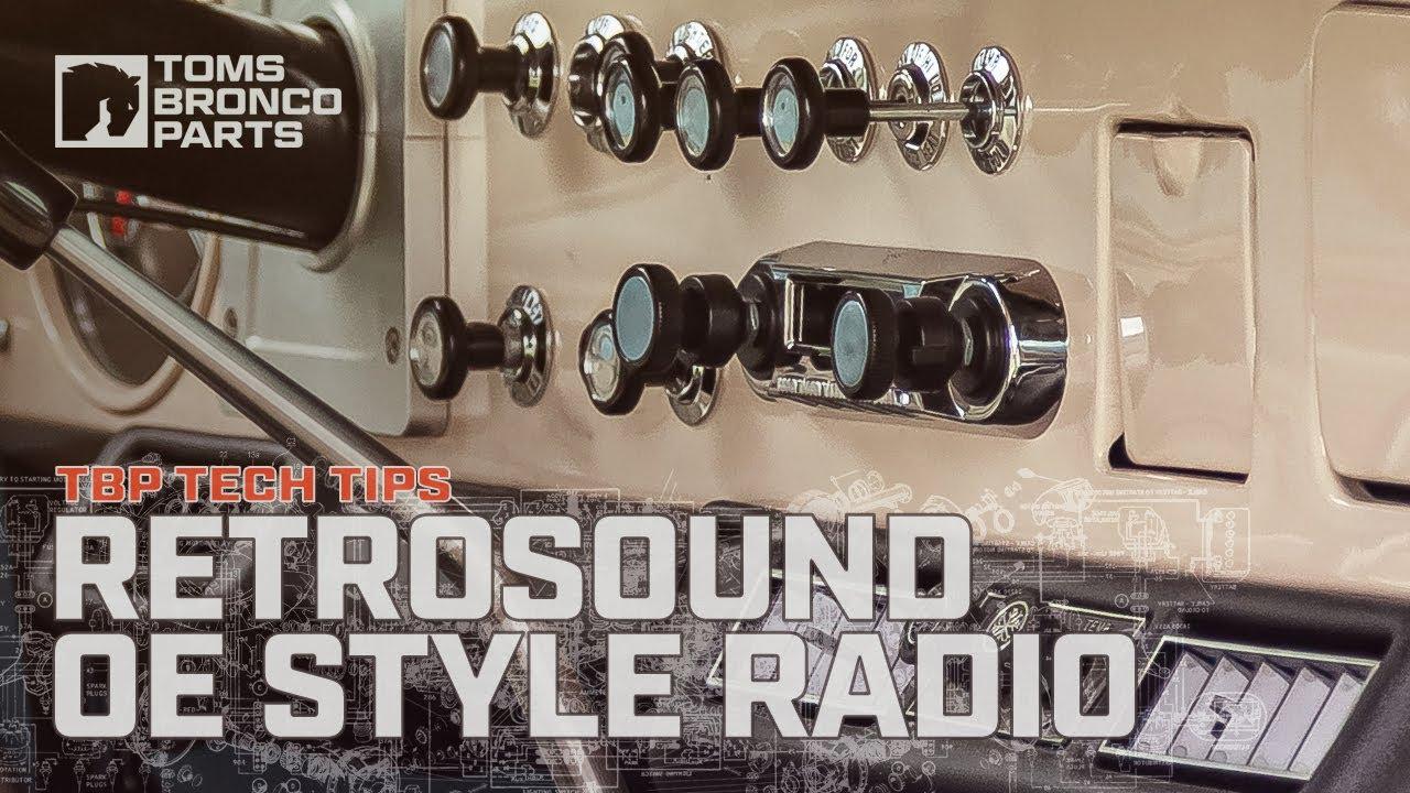 0996b Custom Oe Style 66 77 Ford Bronco Radio By Tbp