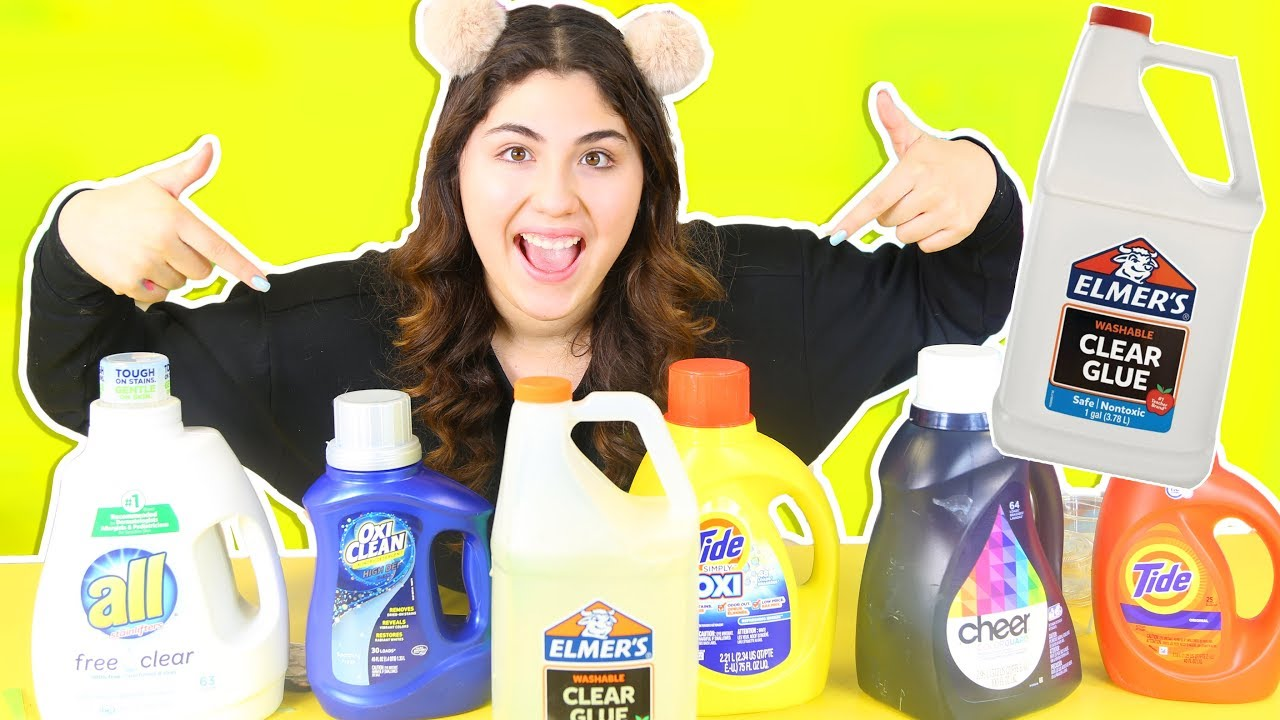 how to make clear slime with laundry detergent