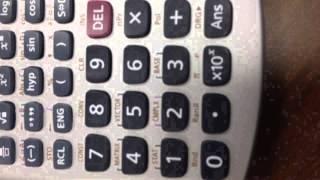 كيفية استخدام آلة حاسبة Casio fx-991ES لإجراء العمليات الحسابية على الأعداد المركبة 1