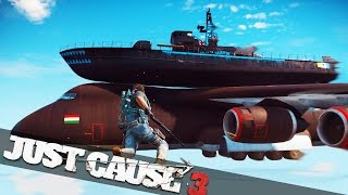 MOST POWERFUL PLANE EVER MADE! :: Just Cause 3 Challenges!