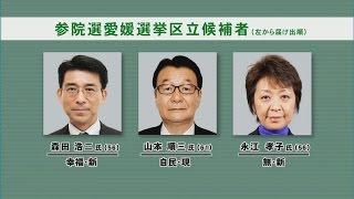 参院選公示、愛媛選挙区3人が立候補・愛媛新聞