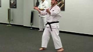 James performing Shisochin kata