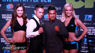 Nonito Donaire vs. Jessie Magdelano FULL Face Off Video- Los Angeles, CA