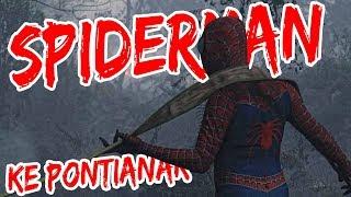 Aksi Spiderman Padamkan Api Karhutla di Pontianak