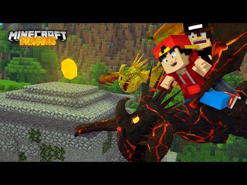 Minecraft DRAGONS - MISSION TO FIND THE DRAGON MIND STONE!!