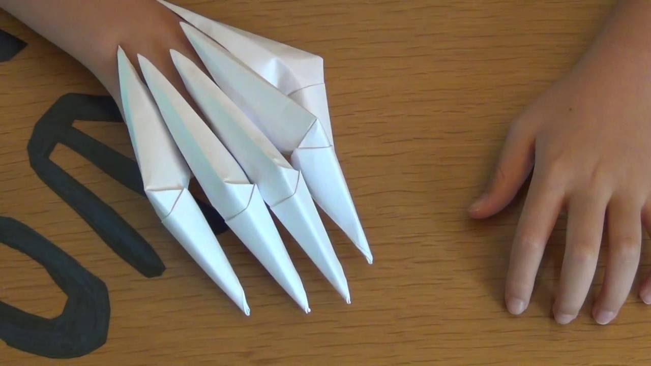 How To Make Paper Claws Easy