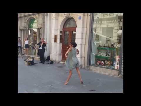 Girl Dancing in a Street Classical Music