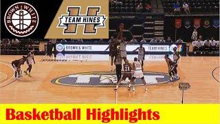 #13 Brown \u0026 White vs #4 Team Hines Basketball Highlights, 2021 TBT Round 1