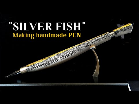 [ Pen Making ] Hand made Pencil / Silver, Pure gold