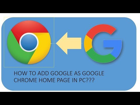 how to make google as your google chrome home page in pc???