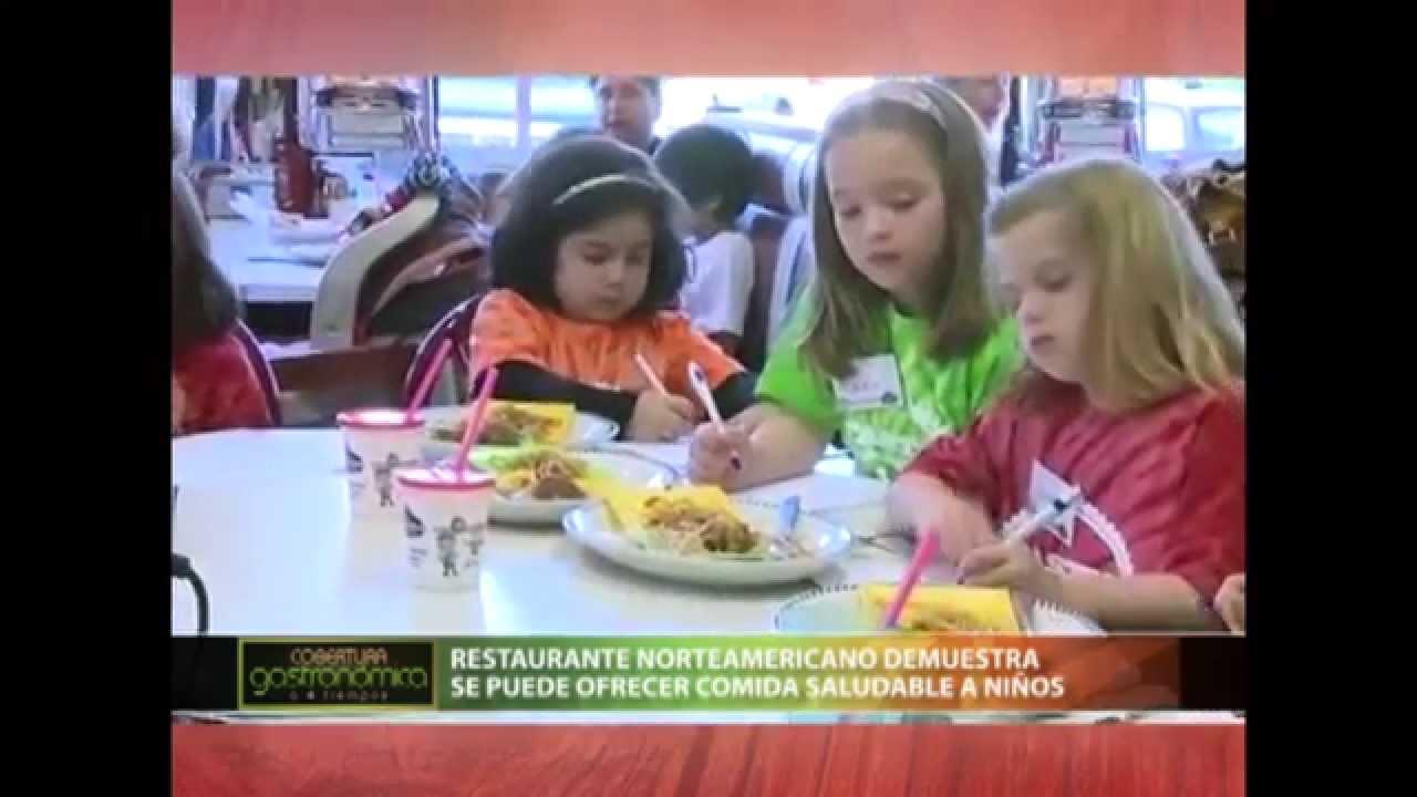Restaurante norteamericano ofrece men de comida saludable for Comida saludable para ninos