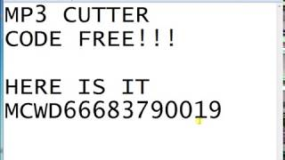 MP3 CUTTER ACTIVATION CODE