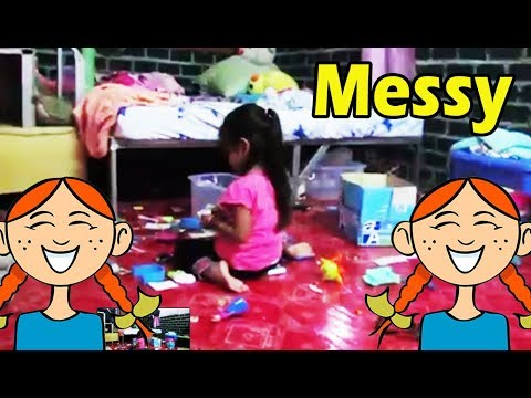Collecting the mess in the room Kids collection action