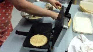 Making Homemade Norwegian Krumkake