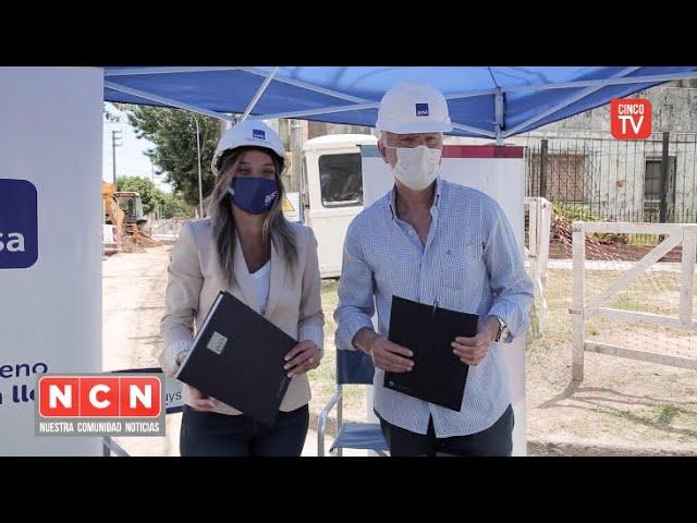 CINCO TV -  Galmarini recorrió junto a Grindetti una obra para 12.000 vecinos