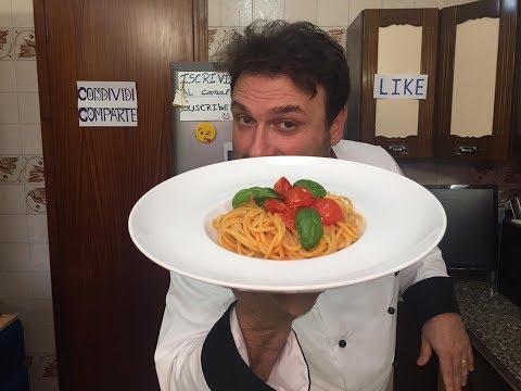 Spaghetti al Pomodoro Fresco e Basilico - CHEF BARBATO